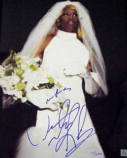 Dennis Rodman in his wedding dress